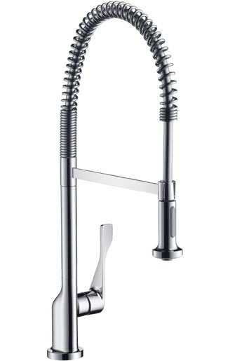 axor citterio kitchen shower New Axor Citterio kitchen faucet from Hansgrohe   Single Lever Kitchen Sink Mixer