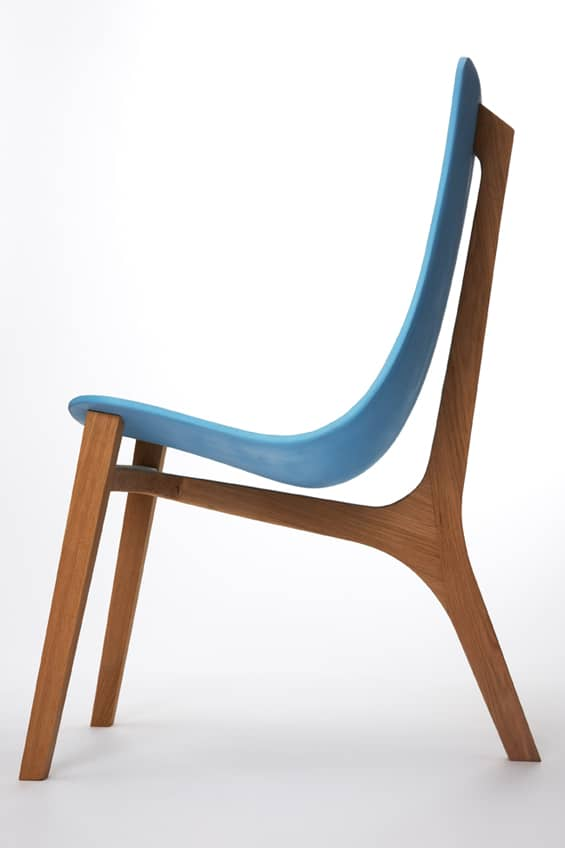Baby blue chair by paul venaille for New chair design