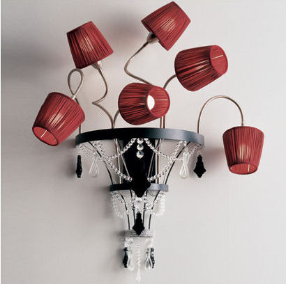 baga contemporary wall sconce red Contemporary Lighting from Baga