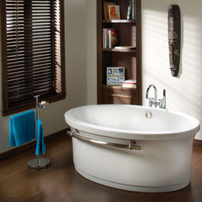 Contemporary tub from Bains Oceania Baths – the Grace free standing air bath