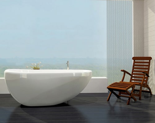 bainultra bathtub essencia 2 Oval Freestanding Bathtub by Bainultra   new Essencia