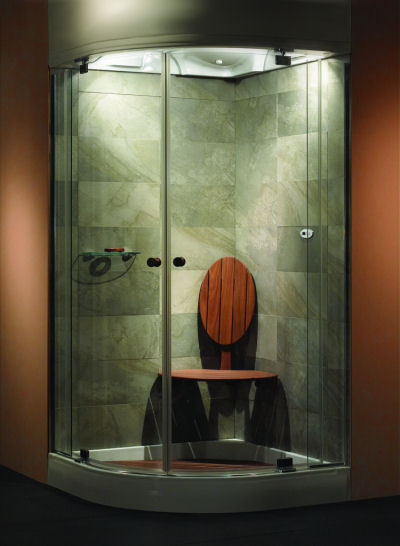 BainUltra Temazkal Shower – A Revolutionary Showering Concept – Thermotherapy, Luminotherapy and Aromatherapy in one