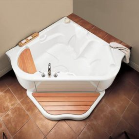 Corner Air Jet Bath Tub TMU from BainUltra – two-person bath