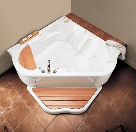 Bainultra Tmu Corner Air Jet Bathtub Corner Air Jet Bath Tub TMU From  BainUltra Two Person