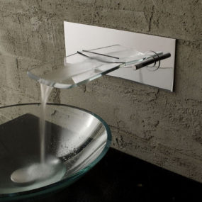 Bathroom Faucet from Bandini – the Arya Glass Waterfall Faucet