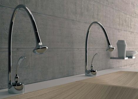 bandini faucet eden 1 Futuristic Bathroom Fixtures by Bandini   Eden