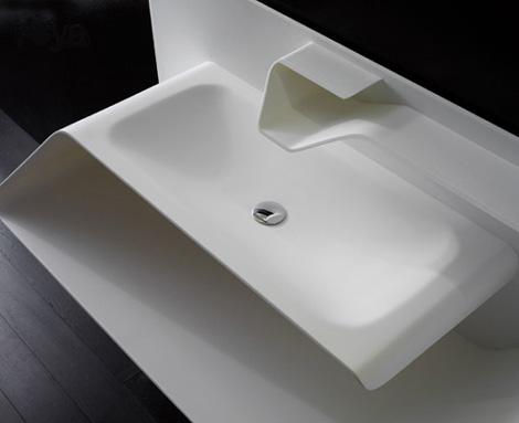 bandini faucet sink arya 1 Totally Integrated Sink Faucet from Bandini   the Arya combination