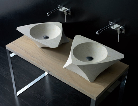 bandini washbasin prisma 5 Natural Stone Washbasin from Bandini   the Prisma and Vela Moonstone washbasins