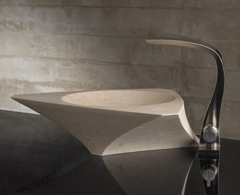 Bandini washbasin Prisma with a tall faucet