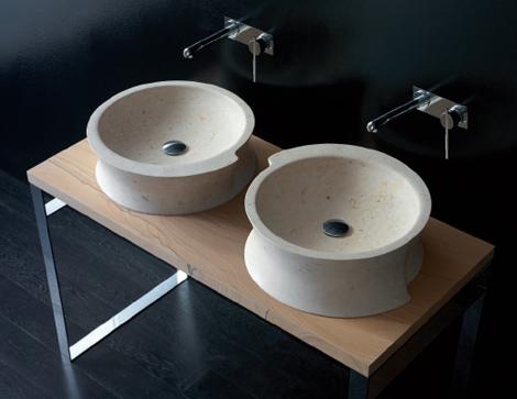 Bandini washbasins Vela vanity version