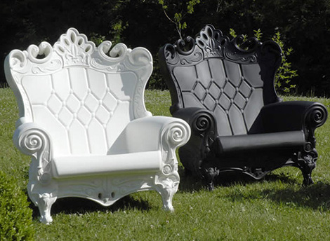 baroque outdoor chair saw italy queen of love 3