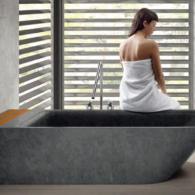 Freestanding Stone Bathtub by Bathco