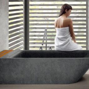 Freestanding Stone Bathtub by Bathco