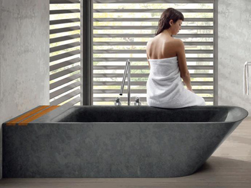 bathco bathtub simi 1 Freestanding Stone Bathtub by Bathco