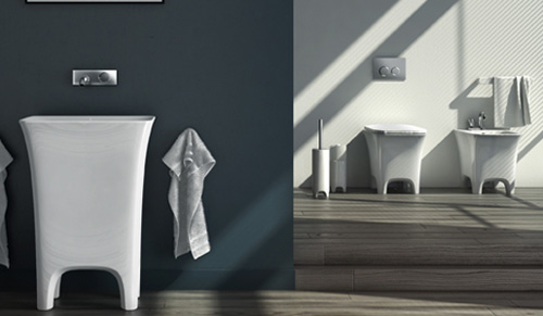 bathroom collection cow artceram 1 Cool Sanitaryware by Artceram   Cow