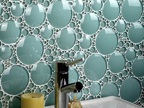 Bathroom Glass Tile Ideas - glass tile backsplash by Evit
