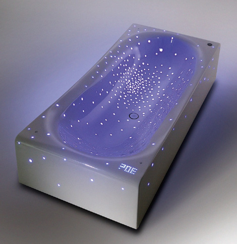 bathroomtomorrow bathtub nirvana 1 Futuristic LED Bathtub Nirvana feels like drifting through the galaxy
