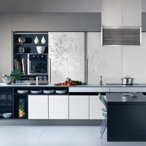 Urban Kitchens from Bazzeo – New Gaia kitchen is concealed behind sliding screens