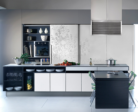 Urban Kitchens From Bazzeo U2013 New Gaia Kitchen Is Concealed Behind Sliding  Screens