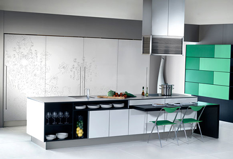 bazzeo gaia kitchen 6 Urban Kitchens from Bazzeo   New Gaia kitchen is concealed behind sliding screens