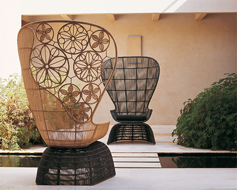 bb italia outdoor furniture crinoline 2 Exquisite Outdoor Living   outdoor furnishings from B&B Italia Crinoline range