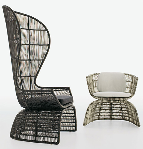 exquisite outdoor living outdoor furnishings from b b italia rh trendir com b&b outdoor table b&b outdoor chairs