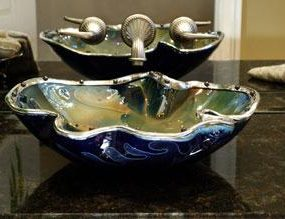 Bear Creek Glass Jeweled Bowl Sink – real jewels