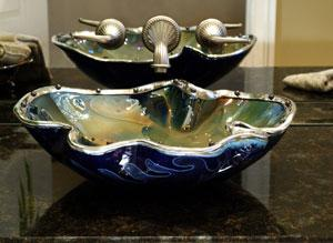 bear creek glass jeweled bowl sink