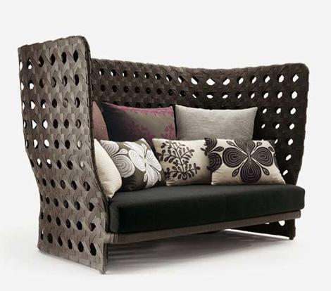 bebitalia outdoor furniture canasta 3 Woven Outdoor Furniture by B&B Italia   new Canasta furniture