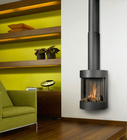 Gas Fireplace From Bellfires Free Bell Wall