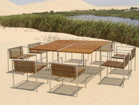 beltempo outdoor furniture dining table jpg. Modern Outdoor Furniture from Beltempo   wood and metal