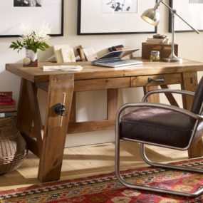 Bench Style Office Desks from Pottery Barn – small and large Hendrix