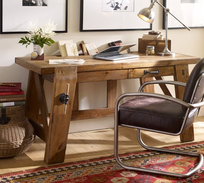 Bench Style Office Desks From Pottery Barn U2013 Small And Large Hendrix