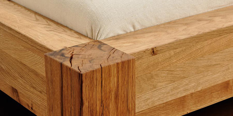 Bergmann bed wood detail