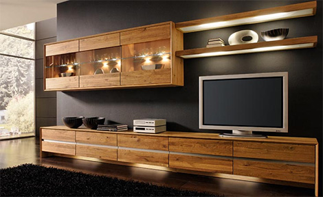 Wood Furniture By Bergmann Modern With A Rustic Touch Wall Entertainment Center