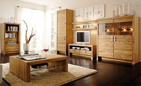 Sensational Solid Wood Furniture By Bergmann Modern Furniture With A Rustic Touch