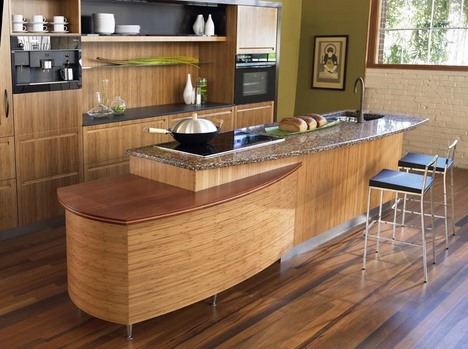 Japanese kitchen design by Berkeley Mills - the Sereno bamboo kitchen