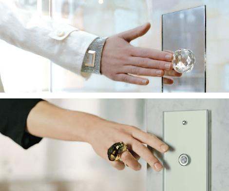 berker switch crystal ball 1 Decorative Light Switch from Berker   Swarovski Crystal switch