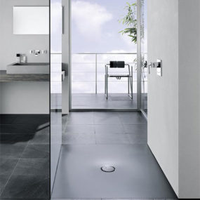 Shower Stall from Bette is flush to the floor
