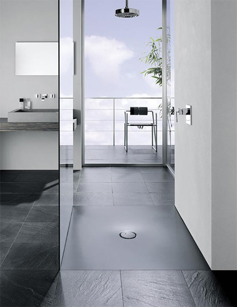 bette bettefloor shower stall Shower Stall from Bette is flush to the floor