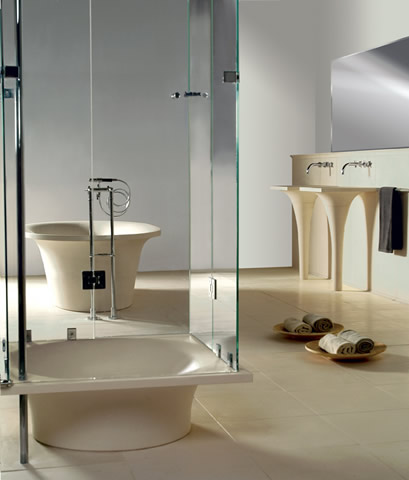 bigellimarmi bathroom leonardo 3 Unusual Stone Bathroom Design by Bigelli Marmi   Leonardo design is inspired by water vortex