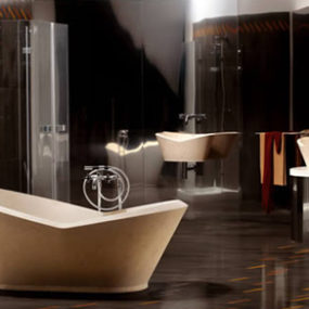 Karim Rashid Stone Bathroom Design from Bigelli Marmi – Mika has a powerful presence