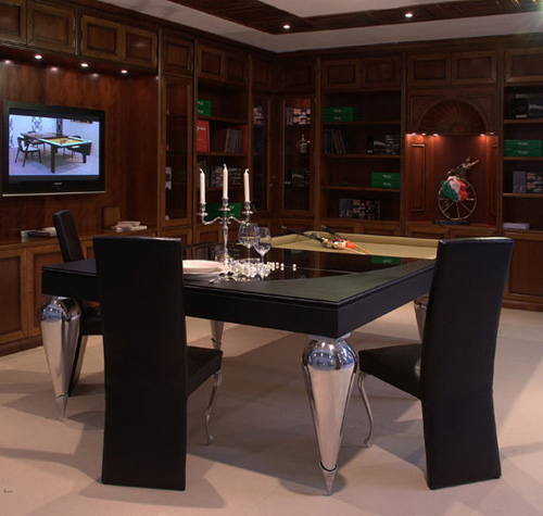 billiard tables cabochon parigi mbm billardi 1 Billiard Dining Tables by MBM Billardi   convertible