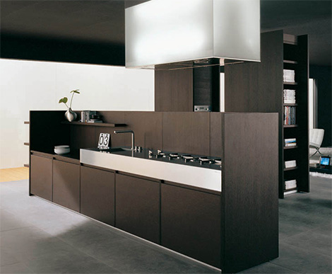 binova modus kitchen Iconic Kitchen Design by Binova   Modus kitchen combines dark wood and tall stature