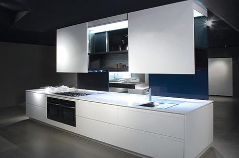 binova prima av kitchen Prima AV Kitchen from Binova   sliding doors system enables two sided design