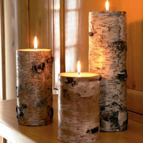 Birch Candles – Pillar Candle at Crate & Barrel – a genuine birch bark