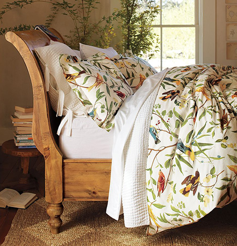 bird motif bedding pottery barn 2 Bird Motif Bedding   spring decorating idea from Pottery Barn