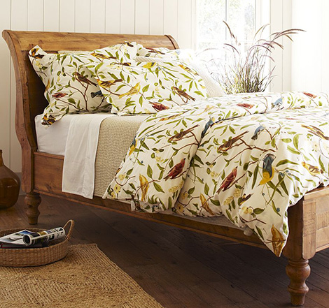 Bird Motif Bedding Spring Decorating Idea From Pottery Barn