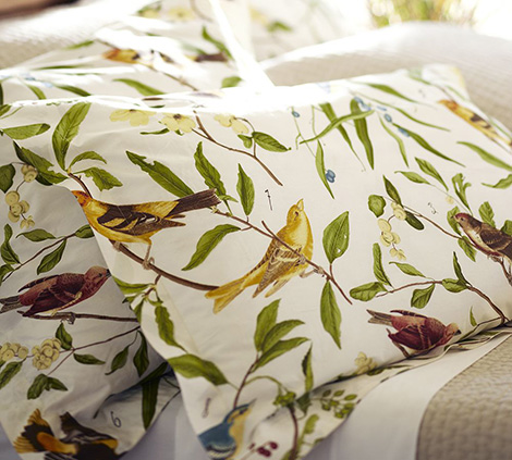 bird motif bedding pottery barn 4 Bird Motif Bedding   spring decorating idea from Pottery Barn
