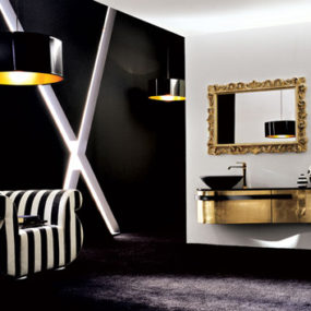 Luxury Vanity collection: Birex Versa lacquered and wooden